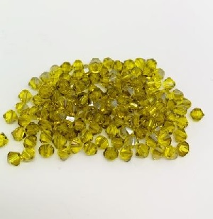 50 pack 4mm 5328 Swarovski Bicone Citrine Satin