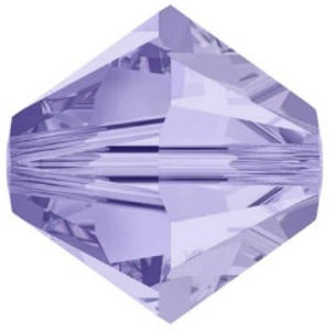 50 pack 4mm 5328 Swarovski Bicone Light Tanzanite