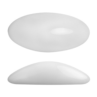 Athos 20x10mm Cabochon Opaque White 03000